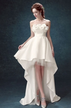 Yabreny  lovely Ivory Homecoming Dresses Front Short Long Back prom Dresses TSJY-024