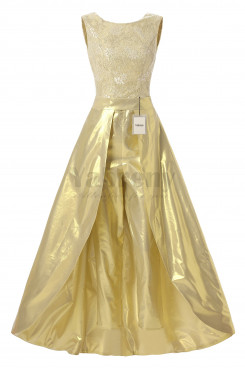 Yabreny Modern Golden High-low prom dresses with trousers BP111701