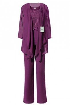 Yabreny Purple Latest Fashion Mother of bride Pant suits mps-275