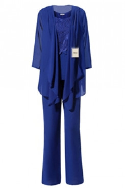 Yabreny Royal Blue Latest Fashion Mother of bride Pant suits mps-273