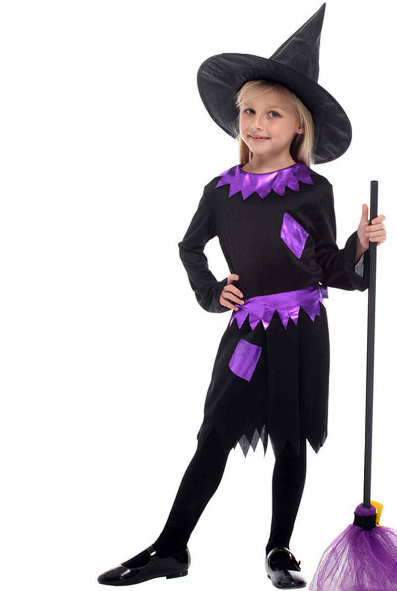 Girls Cosplay Children S Halloween Witch Costume With Hat