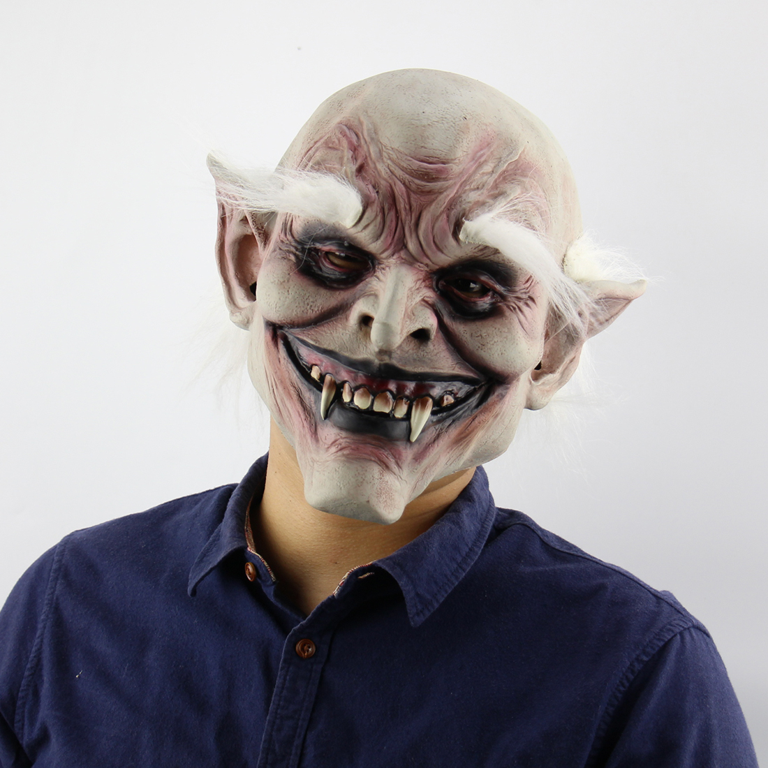 White-browed Old Demon Costume Mask Vampire Haunted House